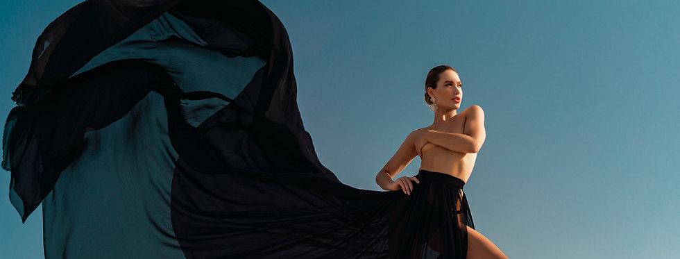 27. Black translucent skirt