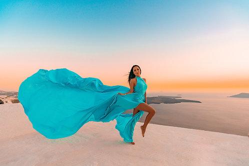 8. Light blue dress