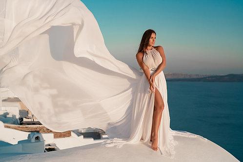 30. Light white dress