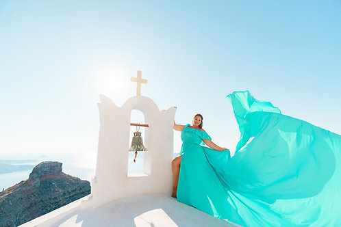 35. Tiffany blue dress plus size