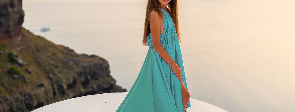 56. Tiffany blue kid dress