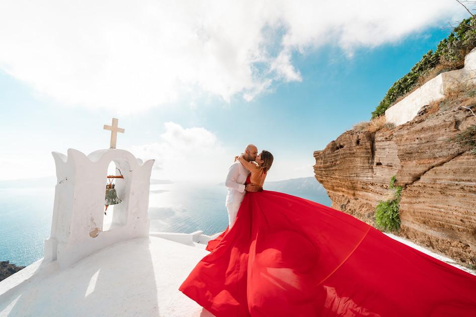 long dresses for engagement photos