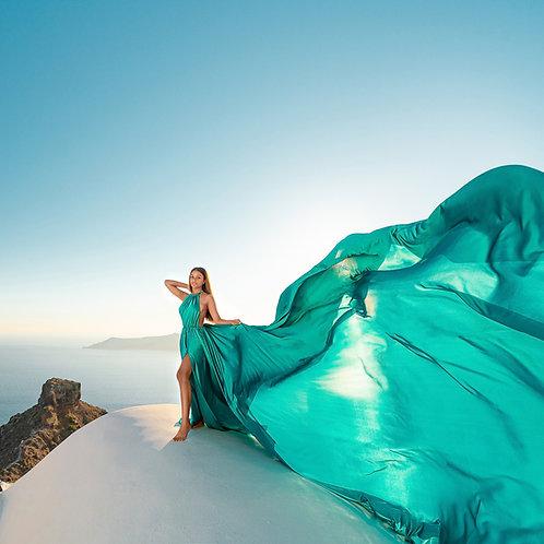 40. Emerald green dress