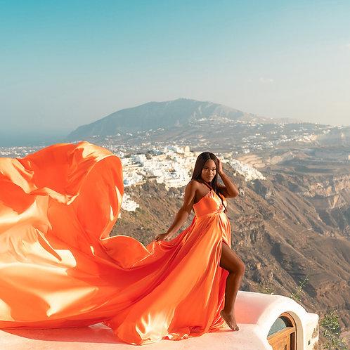 43. Orange dress