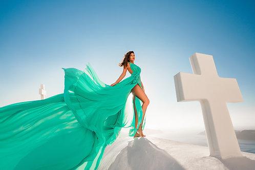 12. Light tiffany blue transformer dress