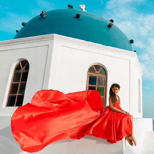 49. Red dress for kids