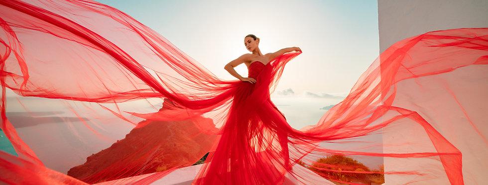 24. Red corset dress