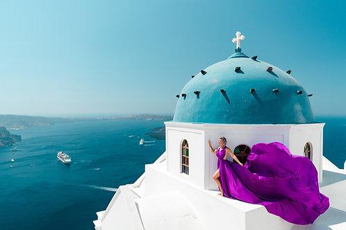 6. Purple dress