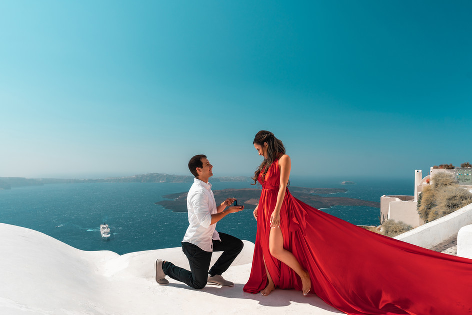 red dress for engagement pictures