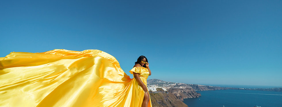 38. Yellow satin dress plus size
