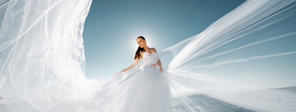 18. Wedding gown with fluffy skirt