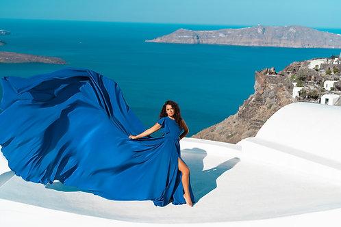 7. Blue dress