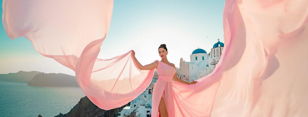 light pink dress maxi
