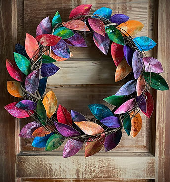 Art Night - Monoprinted Wreath.jpg