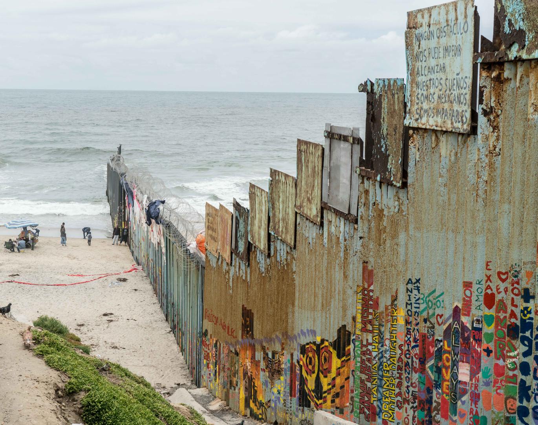 The U.S.-Mexico border wall at Tijuana