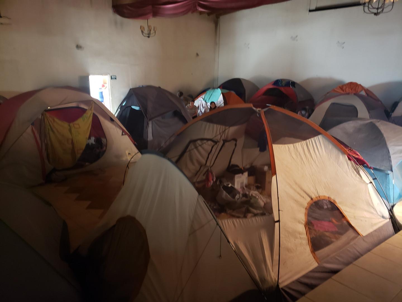 Shelter at the Iglesia Embajadores de Jesus