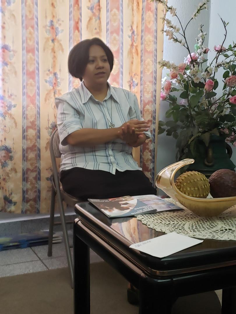 Sister Salome at the Madre Assunta Shelter