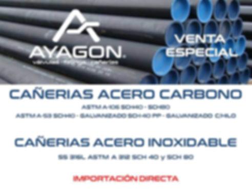 CAÑERIAS ACERO CARBONO - INOXIDABLES