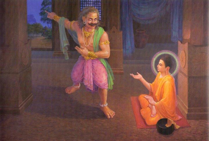 Alawaka threatened Lord Buddha