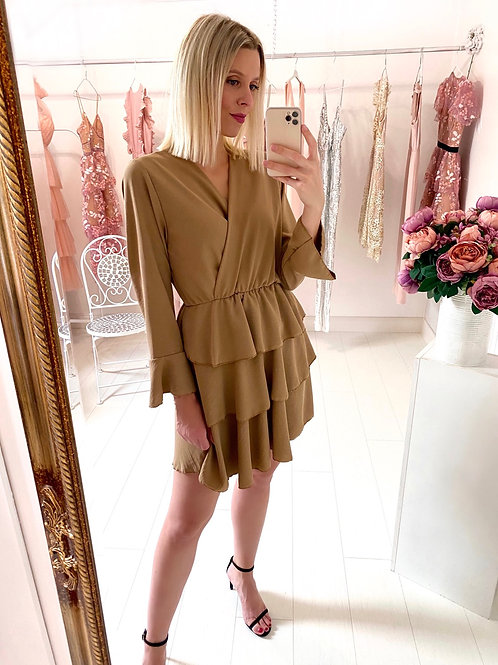 Coffee Date Kleid Mocca