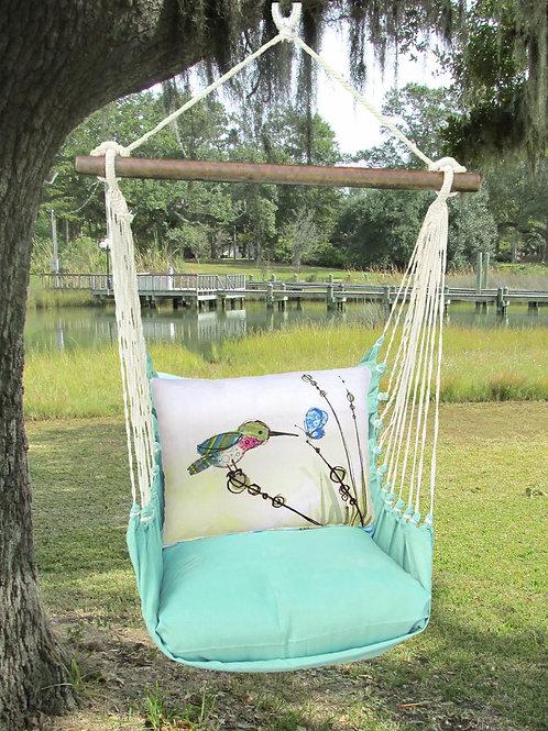 Seafoam Swing Set w/ Hummingbird, SFRR606-SP