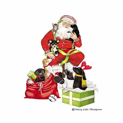 Santa and Presents, MLT810LCS, 18x18