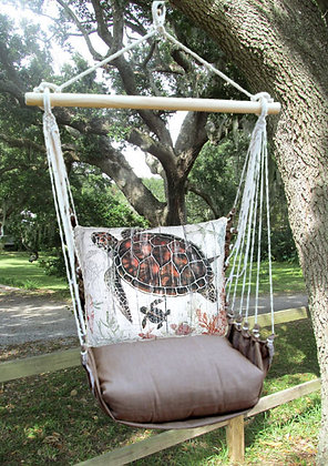 Sea Turtle Pillow with Chocolate Swing Set, CHSW801-SP