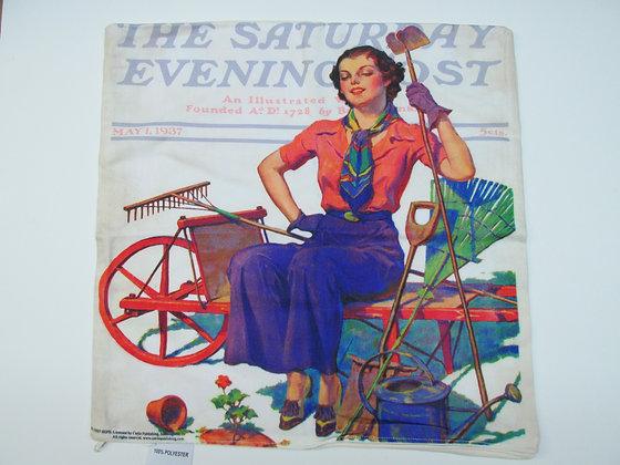 Geranium Gardener Pillow, SEPS020, 20x20