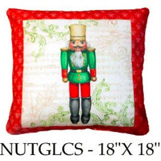Nutcracker, Green, NUTGLCS, 18x18