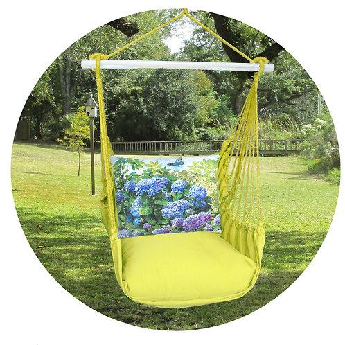 Lime Swing Set w/ Hydrangea Pillow, LMTC802-SP