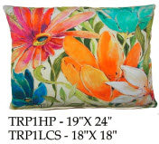 Tropical Flowers Pillow, TRP1, 2 sizes
