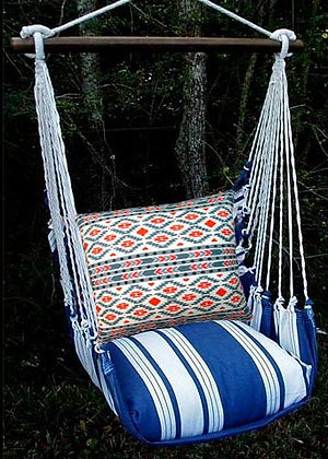 Marina Stripe Swing Set w/Tribal Pillow,MATRBGR-SP