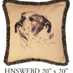 Bulldog Pillow, 20x20, HNSWEBD