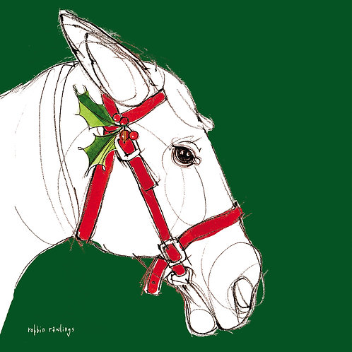 Christmas Horse Profile, RR822LCS, 18x18