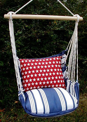 Marina Stripe Swing Set w/ Stars Pillow,MASTRA-SP