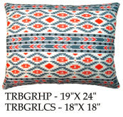 Tribal Pillow, TRBGR, 2 sizes