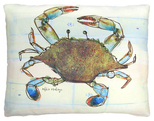 Blue Crab Pillow, RR907, 2 sizes available