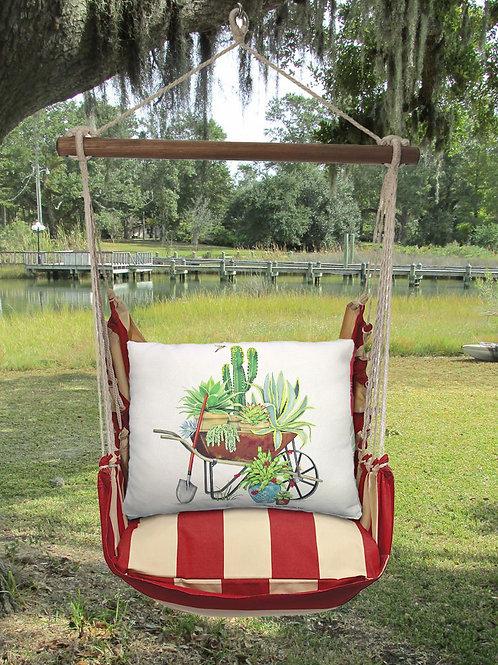 Wheelbarrow of Succulents Swing Set, AMMLT203-SP