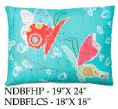 Butterflies Pillow, NDBF, 2 sizes