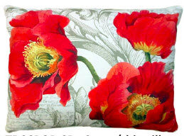 TB Pillow, Poppies, CCPOPLCS, 18x18