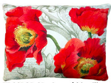 TB Pillow, Poppies, CCPOPHP, 19x24
