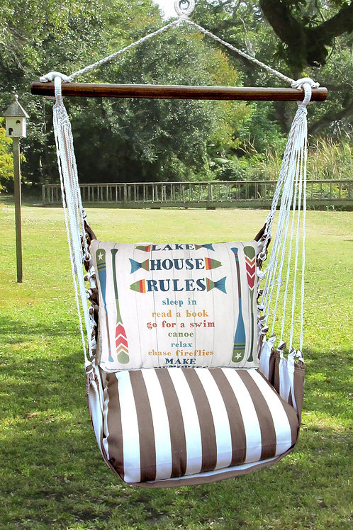 Lake House Rules Swing Set, SCSN801-SP