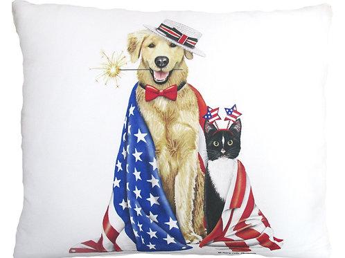 Patriotic Dog & Cat, MLT805, 2 sizes