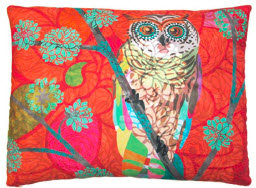 TB Pillow, Red Owl, TCROHP, 19x24