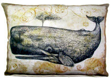 Whale Pillow, WHL, 2 sizes