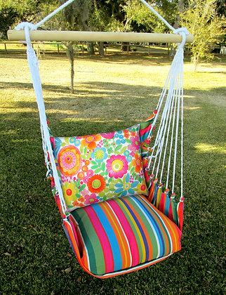 LJ Swing Set w/Bright Flowers Pillow, LJBC504 - SP