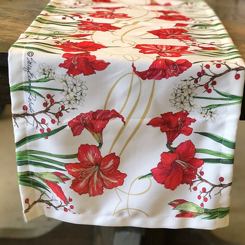 "Amaryllis Table Runner, SR814RNR, 14""x 60"""