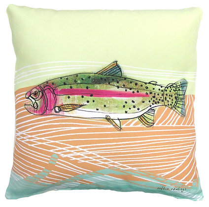 Trout 2 Pillow, RR902LCS, 18x18 only