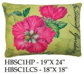 Hibiscus Pillow, HBSC1, 2 sizes