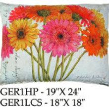 Gerberas 1 Pillow, GER1LCS, 18x18 only